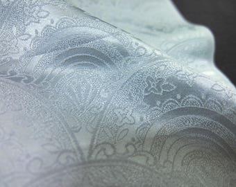 "14""w. x 32.6""l. Vintage kimono silk fabric shine 2409J"