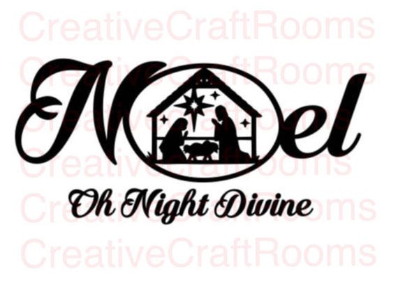 Noel Png, Christmas Png, Jesus , Christianity, Nativity Scene Silhouette, Birth of Jesus, Silhouette scene, Cricut print and cut