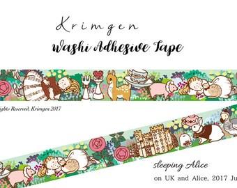 """ONE Washi Tape -""""Sleeping Alice""""- Designed by Krimgen"""
