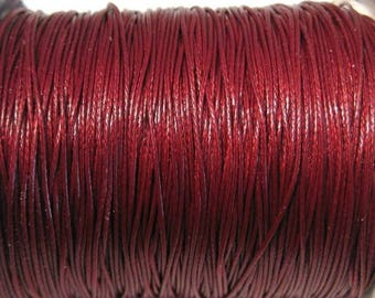 50% OFF Clearance Sale-- Dark Red Korea Wax Cotton Cord Bracelet Necklace Cord 0.5mm