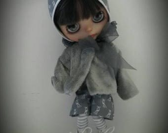 Blythe winter outfit in grey
