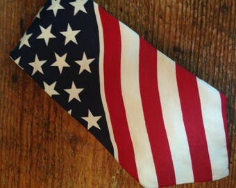 Structure Stars and Stripes Flag Neck Tie - 4th of July Tie