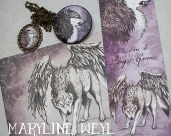 "Nice magic set ""winged werewolf"""