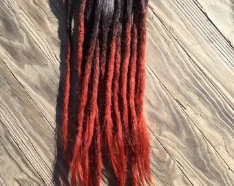 Human hair dreadlock extensions etsy human hair dreadlock extension set of 20 accent or add color ombre transitional black to pmusecretfo Images
