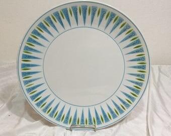 "MIKASA BLUE POINT Large 12"" Platter Plate Mid Century Retro Cera Stone 3134-B Mid Century Retro"