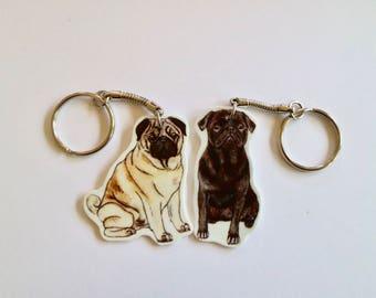 Pug Keyring