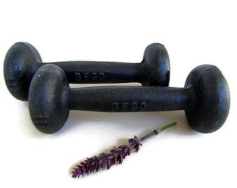 Weights; Vintage 1 lb. Cast Iron Hand Weights/Dumbbells