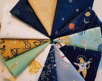 Fabric bundle of  Dear Stella Supernova designed by Rae Ritchie - 12 different fabrics
