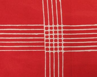 1/2 Yard Chroma Handcrafted Batik Plaid in Poppy from Andover designed by Alison Glass 8132-R