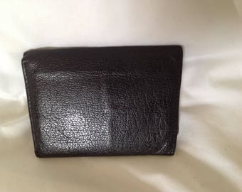 Vintage Buxton Men's leather tri-fold wallet
