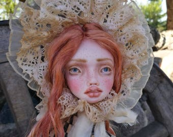 Doll Josephine, art doll, dolls, handmade dolls, handmade, crafts, made by hands, polymer clay
