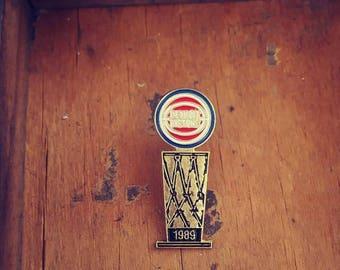 Vintage Detroit Pistons Enamel Pin