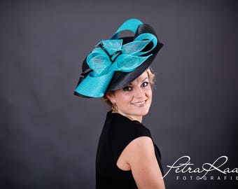 U73 hat Royal Ascot hat Ballhut Kentucky Derby has horse racing couture Millinery Sinamay has wedding fascination