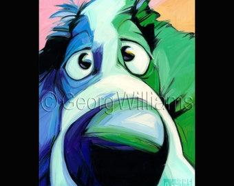 """Pet Portrait Giclee Print """"Arthur"""""""