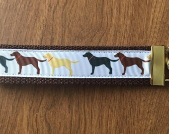 Labrador Key Chain Zipper Pull Wristlet
