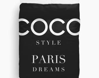 Paris Duvet Cover, Girls Duvet Cover, Girls Bedroom Decor, Dorm Bedding, Girls Bedding, Teen Girl Room Decor, Gifts for Women