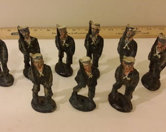Vintage Wooden Sailors, Toy 1940's