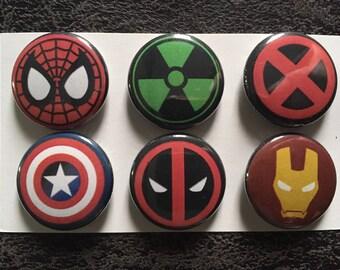 Marvel Comics Magnet, set of 6