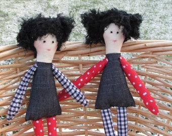 Twin rag dolls