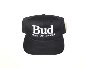 Bud light king of beers nfl promo snapback hat 80s 90s ted fletcher starter Snapback Snap back Strapback hat One Size Adult Unisex