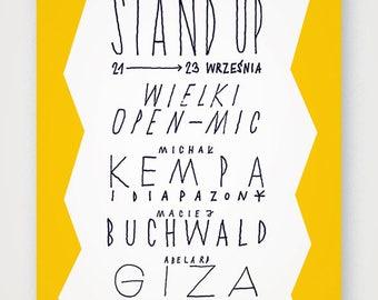 Stand Up poster. Fine quality print of original artwork. Hand signed.