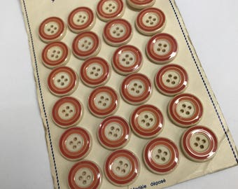 Card of Vintage French Buttons