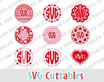 Valentine svg, Valentines Day svg, heart Monogram frame svg, Valentines dxf, eps, arrow svg, Silhouette, Cricut cut file,  digital download