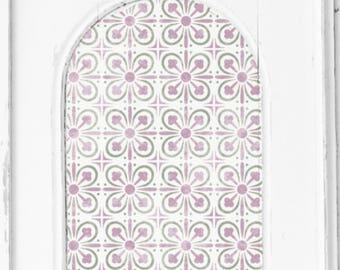 York Tile Stencil - Medieval Victorian Mediterranean Wall Furniture Floor Craft Stencil - YORK01