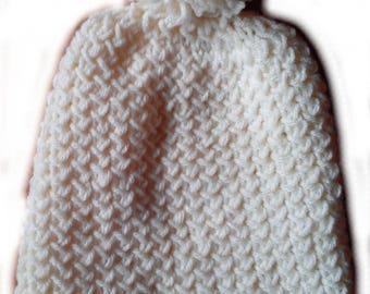 Ecru size 54/56 Bobble Hat