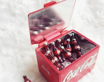 MidYear Sale15% Miniature Coca Cola Bucket and 12 Pcs. of Coca Cola bottle with ice,Miniature Coke,Miniature Cocacola,Dolls House,Dolls and