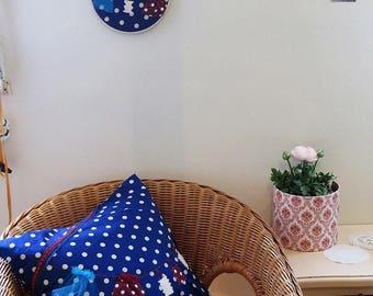 Flon Flon dot pillow cover