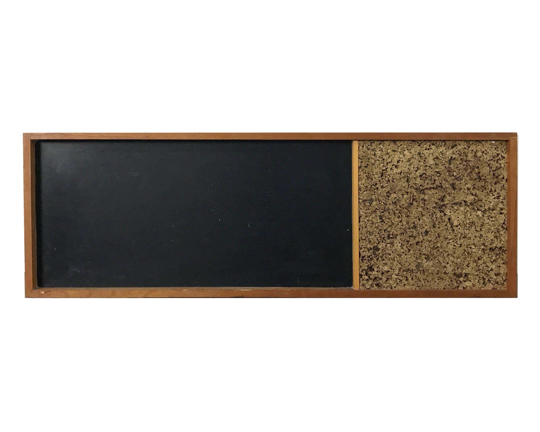 Vintage mid century modern chalkboard cork board raymor 1950 39 s for Modern cork board