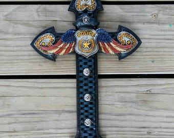 Police with wings cross FREE SHIPPING