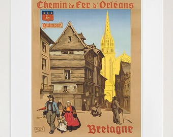 Art Brittany France Poster Travel Print Vintage Home Decor (XR1466)