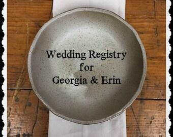 Wedding Registry for Georgia & Erin