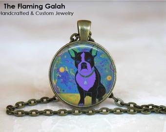 POP ART DOG Pendant •  Purple Dog Pop Art •  Gift for a Dog Lover •  Dog Pop Art • Pet Jewellery • Gift Under 20 • Made in Australia (P1407)