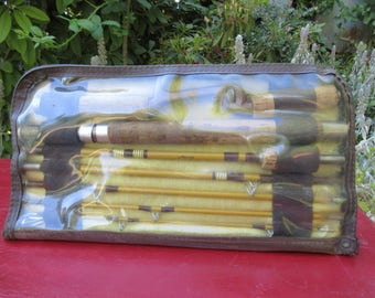 Vintage Wright & McGill Eagle Claw Trailmaster 5 Way Combination Travel Fishing Rod in Case