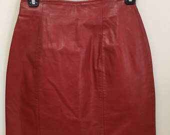 Vintage Leather mini skirt - 1980's