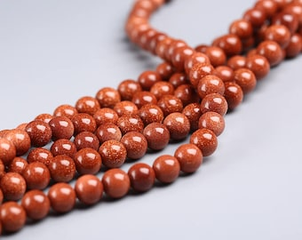 """Round Red Sandstone Beads Red Stone Ball Beads Wholesale 4mm 6mm 8mm 10mm 12mm 14mm Beads 15"""" Strand"""