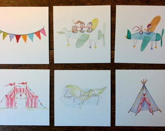Cheerful Vierkane Cards 10 * 10 cm with envelope