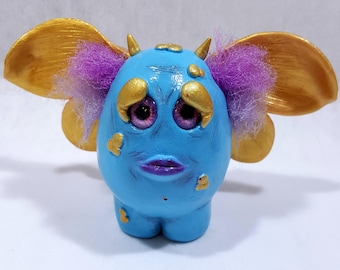 Polymer Clay Creature, Polymer Clay Art doll, OOAK doll, Art doll, Fantasy Creature, Whimsical Creature, Unusual Creature, Sculpted