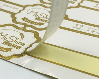 Silver Foil Stickers Etsy - Custom gold foil stickers