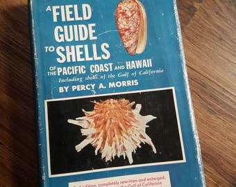 Vintage Sea Shell Book. Hawaiian Sea shells. A Field Guide To Shells Of The Pacific Coast And Hawaii Including California by Percy A. Morris