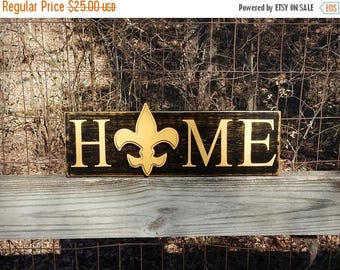 New Orleans Saints Home Sign, Louisiana Saints, Rustic Home, Southern Decor, Farmhouse decor, Man Cave, Cajun, Fluer de lis Home sign