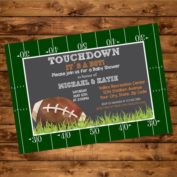 Football baby shower invitation printable touchdown its a boy il570xn filmwisefo