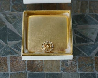 Vintage Avon Imperial Jewel Compact Case with  Original Box and Unused Powder