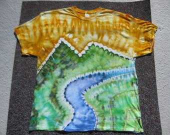 tie dye shirt, Earth Day shirt, A River Runs Through It