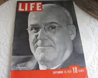 Life Magazines 1937 September 13 Weir of Weirton Vintage Magazines and Advertising