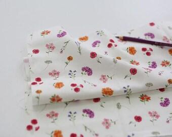 Purple Flower Pattern Digital Printing Cotton Fabric by Yard