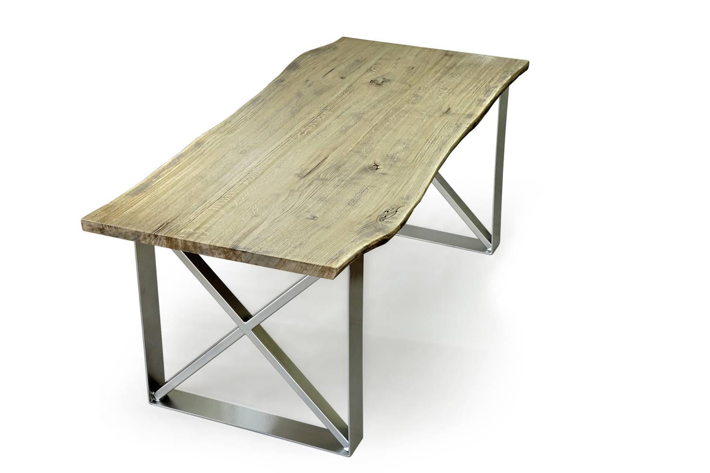 live edge dining table tisch live edge light oak dining table. Black Bedroom Furniture Sets. Home Design Ideas